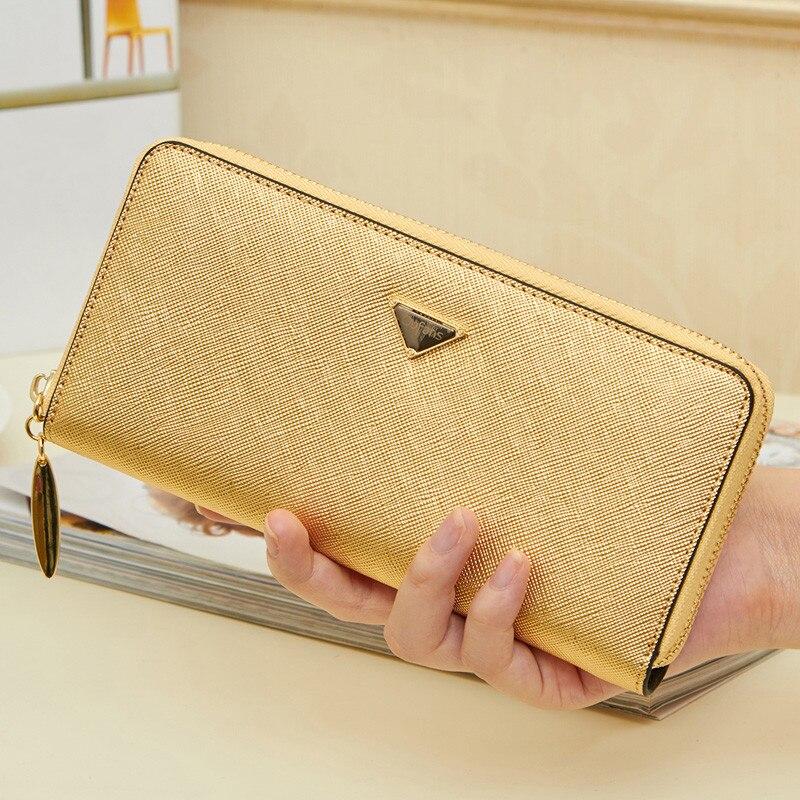 2017 Fashion Gold Color Women Purse, Zipper