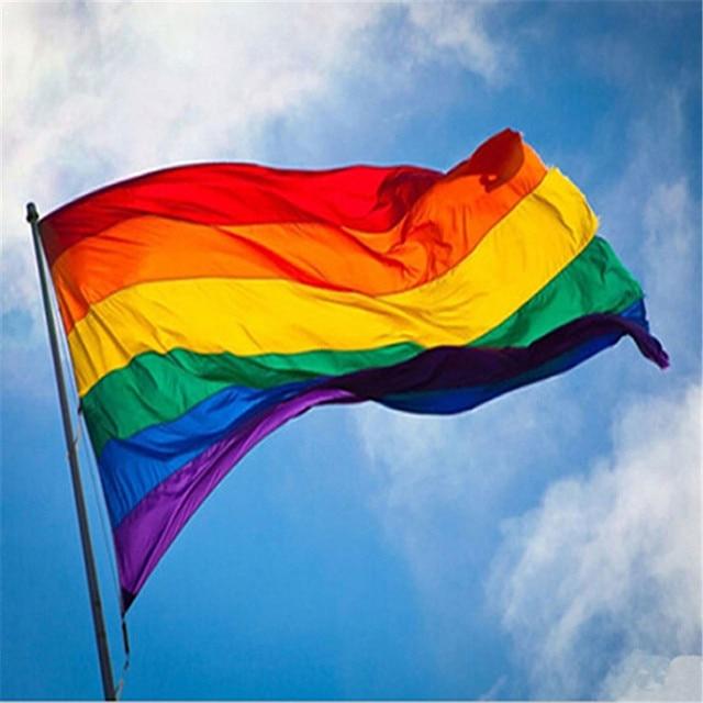 Bandera de Arco Iris 2 Piezas de Orgullo de Gay 5 x 3 Pies/ 150 x 90 cm para el carnaval LGBT