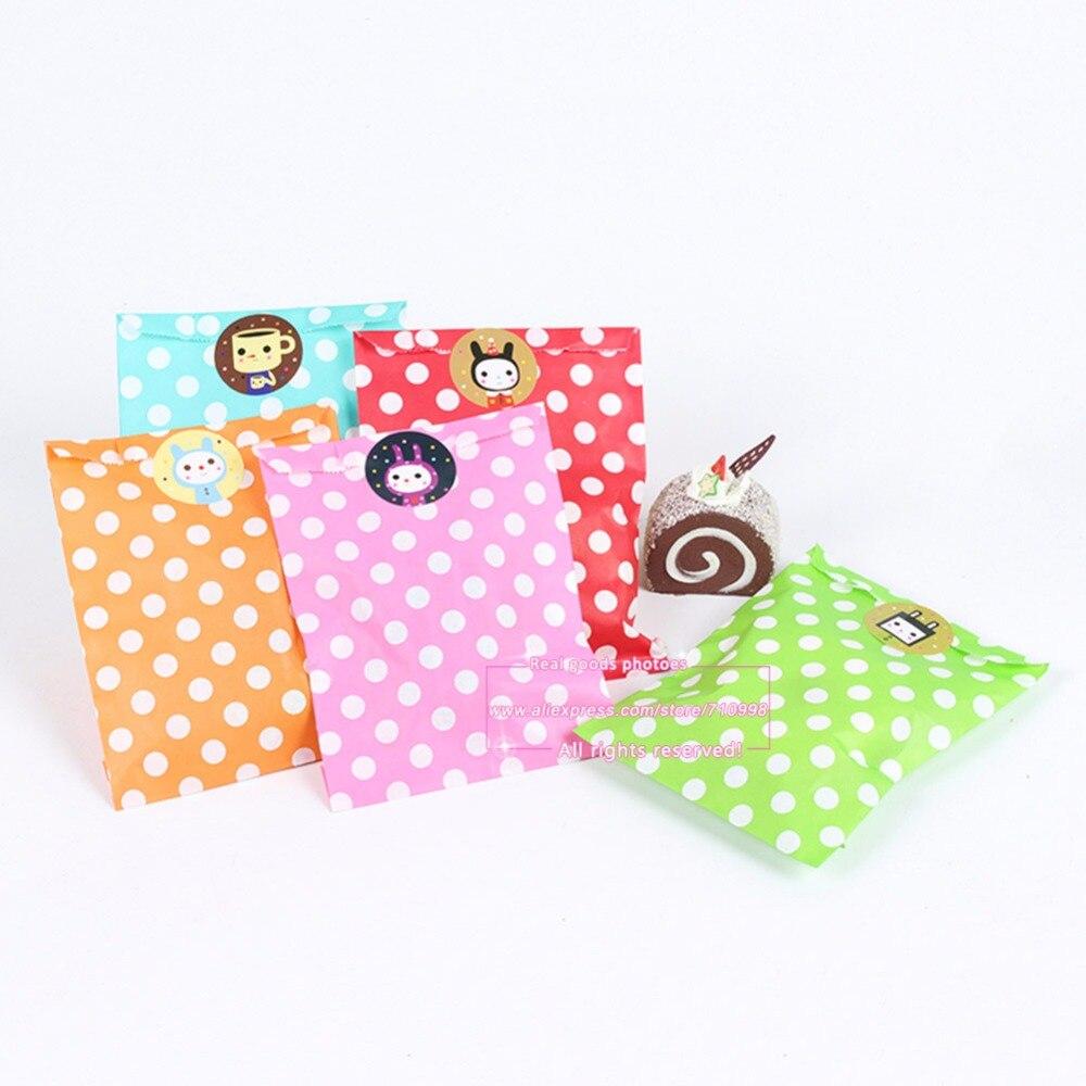 25pcs Polka Dot Grease Proof Paper Bag Favor Gift Packaging ...