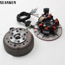 e470a9ca7f4 Xuankun lf140 Motores piezas magnética Motores bobina Asamblea generación  bobina estator rotor Asamblea con Iluminación(