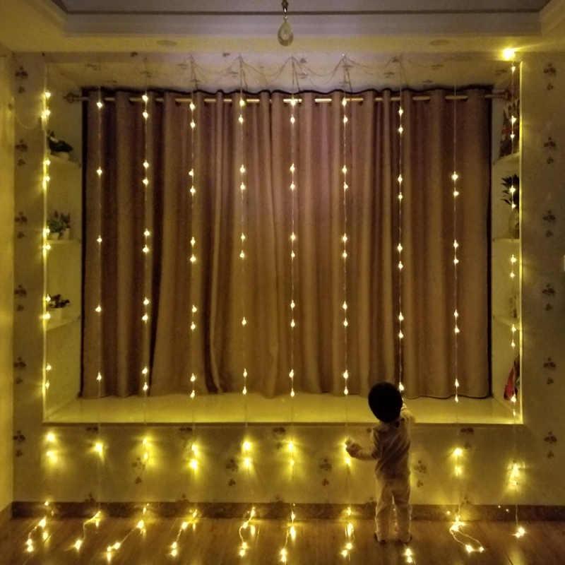 """3X3 м 320Led Водопад """"метеорный поток"""" линия дождя фонари уличный занавес Сосулька свет шнура для рождества Свадебная вечеринка"""