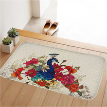 Coral Fleece Anti-slip Rubber  Door Mats Rugs Light Thin Waterproof Kitchen Bedroom Carpet