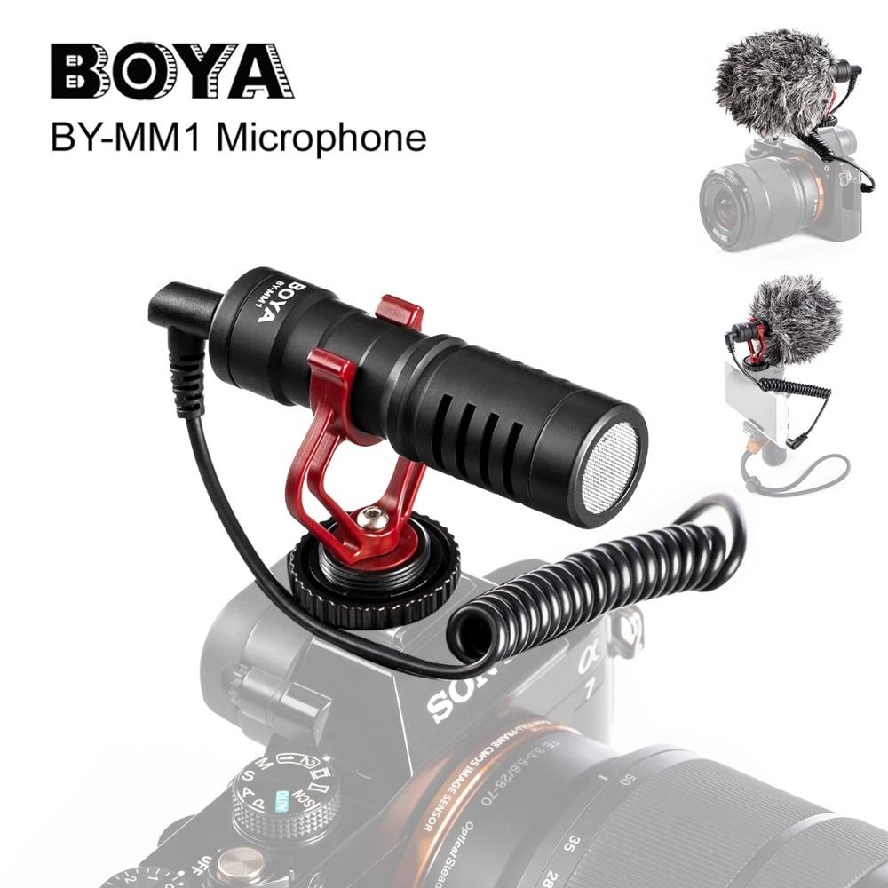 BOYA BY-MM1 Caméra Vidéo microphone pour Zhiyun Lisse 4 DJI OSMO DSLR Caméra iPhone X XS 8 7 6 Plus andriod Smartphone
