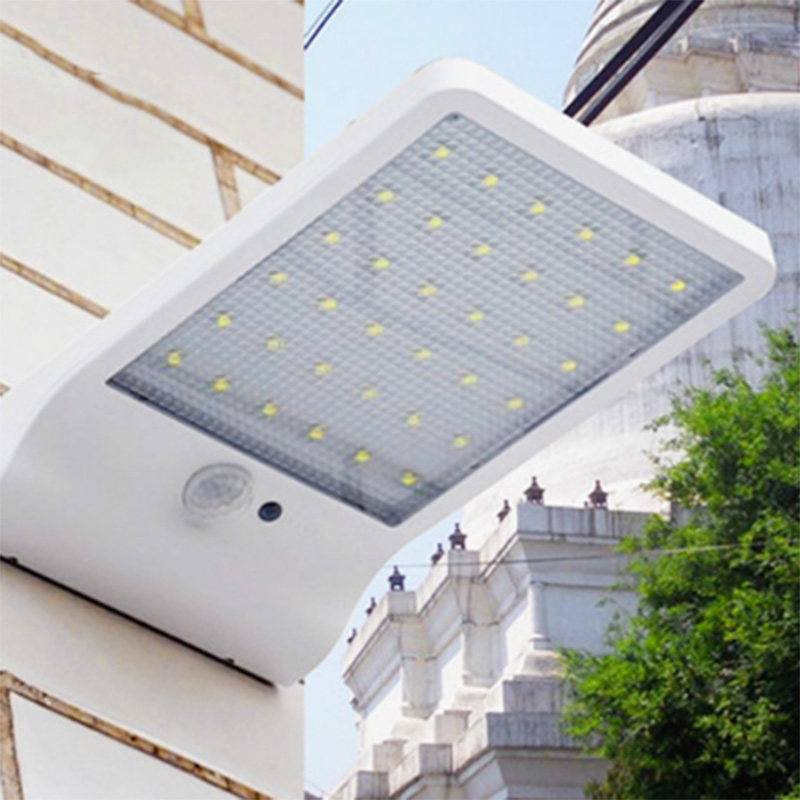 2018 LEDMO 36 LED Wall Light 6V 3.2W Modern Ultra-thin Solar Sensor Outdoor Lighting, Waterproof Courtyard IP65 Wall Lamp.