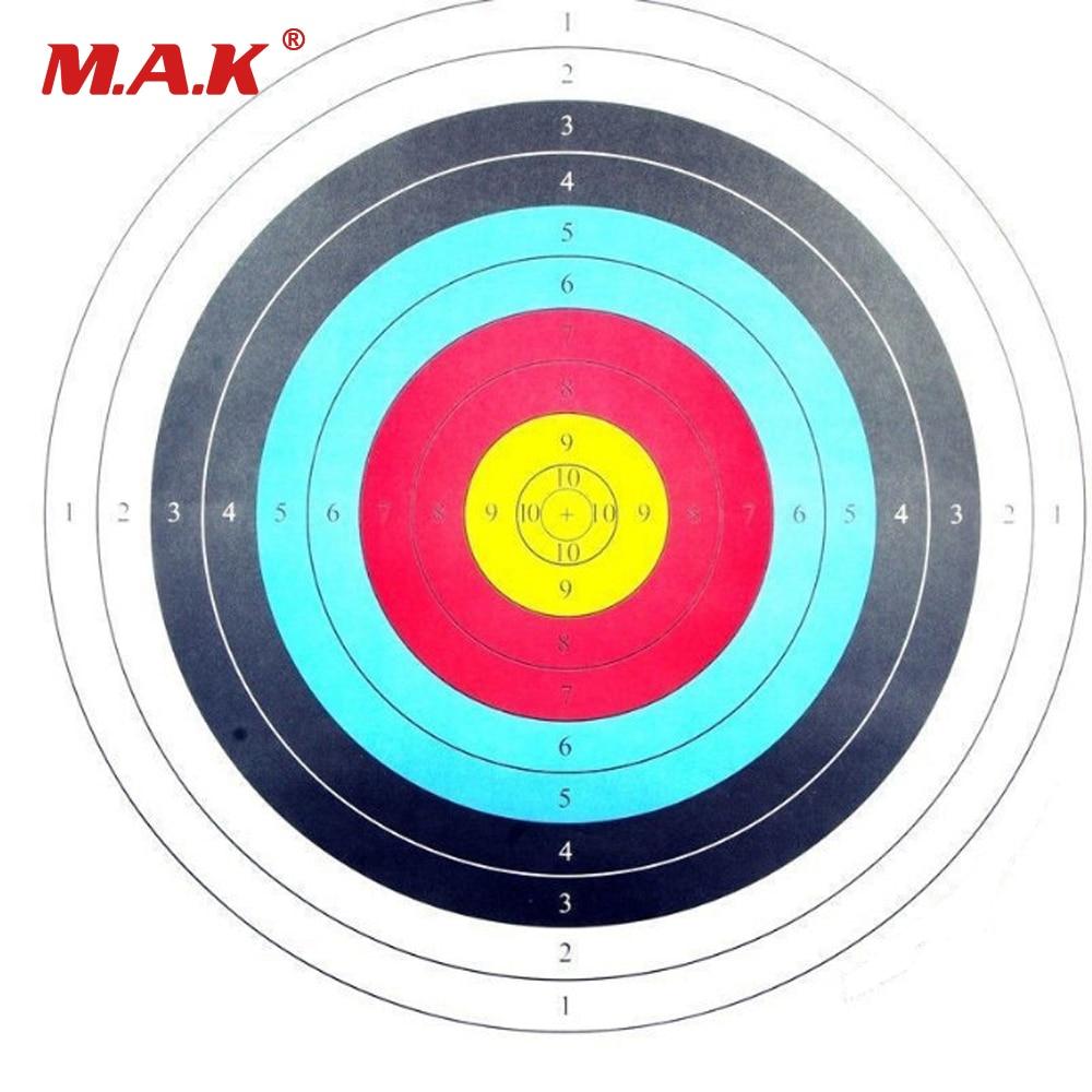 10pcslot FITA Standard 236 Archery Target Paper Full Ring Single Spot Vegas Bow Archery