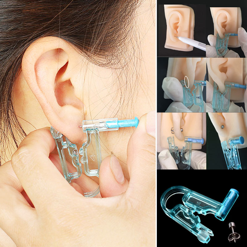 2018 New Arrival 1PC <font><b>Earring</b></font> Body Piercing Kit Ear Gun Stud Ear Disposable Asepsis Safety Drop Ship image