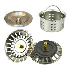 3 Colors Stainless Steel Lid For Kitchen Sink, Water Filter For Funnel, Sink Plug, Sink Lid(China)