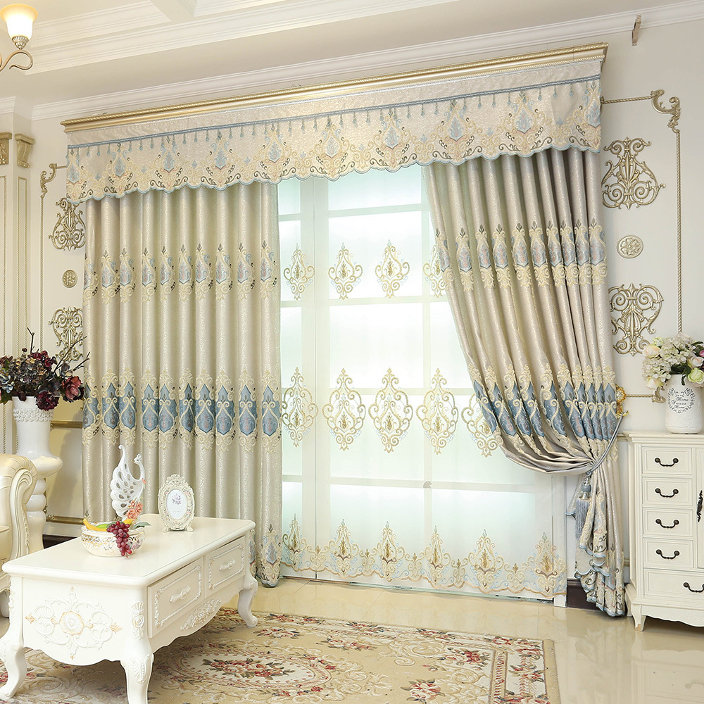 Image 5 - European style shading embroidery, living room, bedroom curtain villa, Rome curtain, rolling, buckle, vertical,butterfly curtain-in Storage Bags from Home & Garden