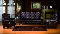 2015 Leisure Sofa Chesterfield Sofa New Style Modern Sofa Genuine Leather High Denisty Foam Living Room