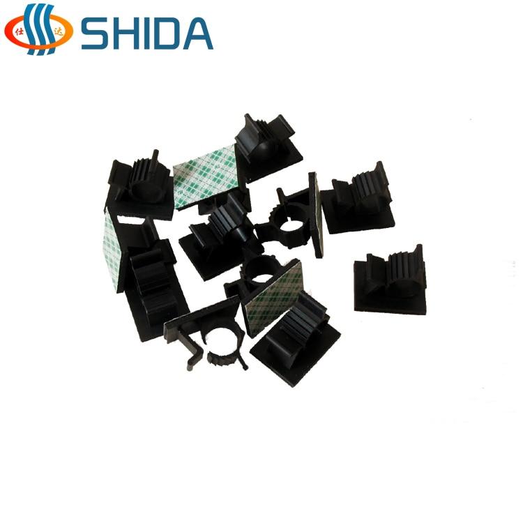 Hot Sale 20PCS Black and White Adjustable Plastic Cable Clamps 3M ...