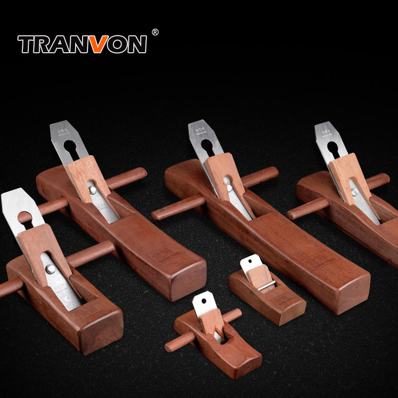 TRANVON Quality Hand Plane Blades Rosewood Woodworking PlaneFlat Wood Plane Bottom Edged DIY Handle Tools