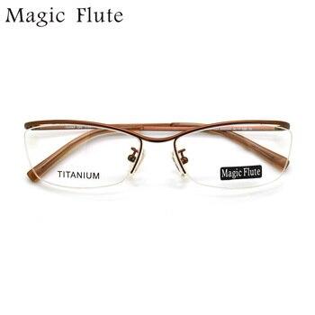 Новое поступление, титановый светильник, оптические оправы, очки, половина оправы для мужчин или женщин, модные очки по рецепту, 152982