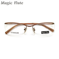 2017 New Arrival titanium light optical frames eyeglasses Half frame for men or women fashion prescription eyewear 152982