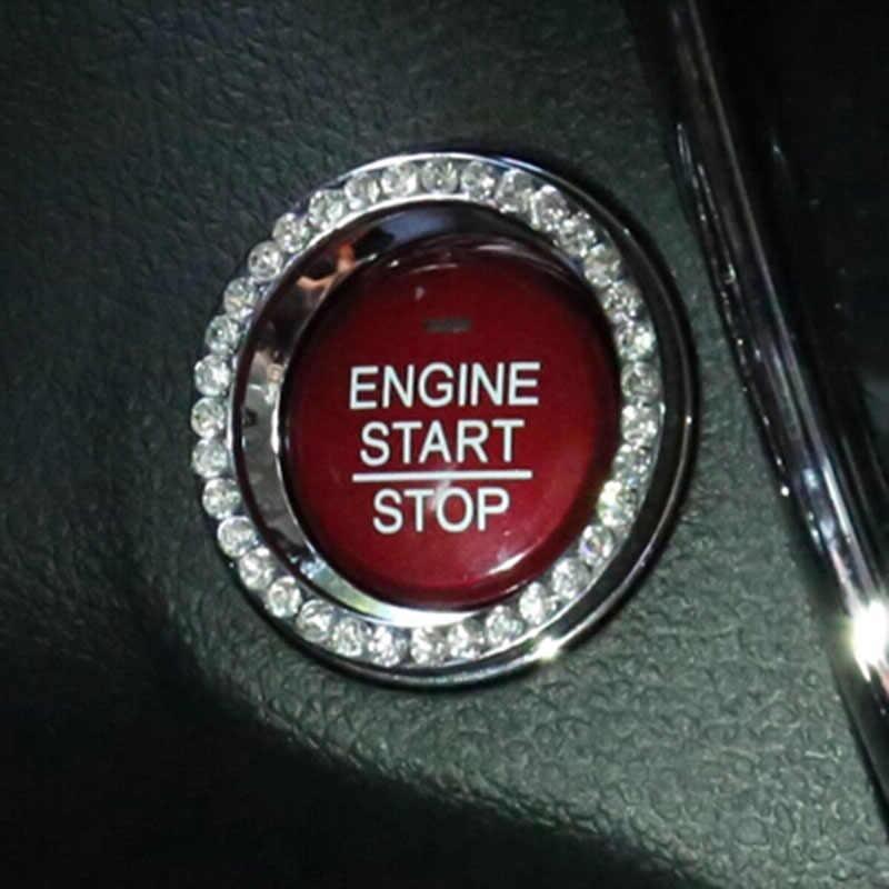 Alijunda سيارة مفتاح إشعال التبديل حلقة الديكور غطاء لاند روفر رينج روفر/إيفوك/فريلاندر/ديسكفري
