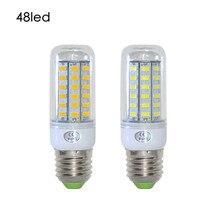 Lâmpadas de led hrsod e26/e27 10 w 48 smd 5730 1000 lm branco frio/branco quente milho lâmpadas ac 110v ou 220v