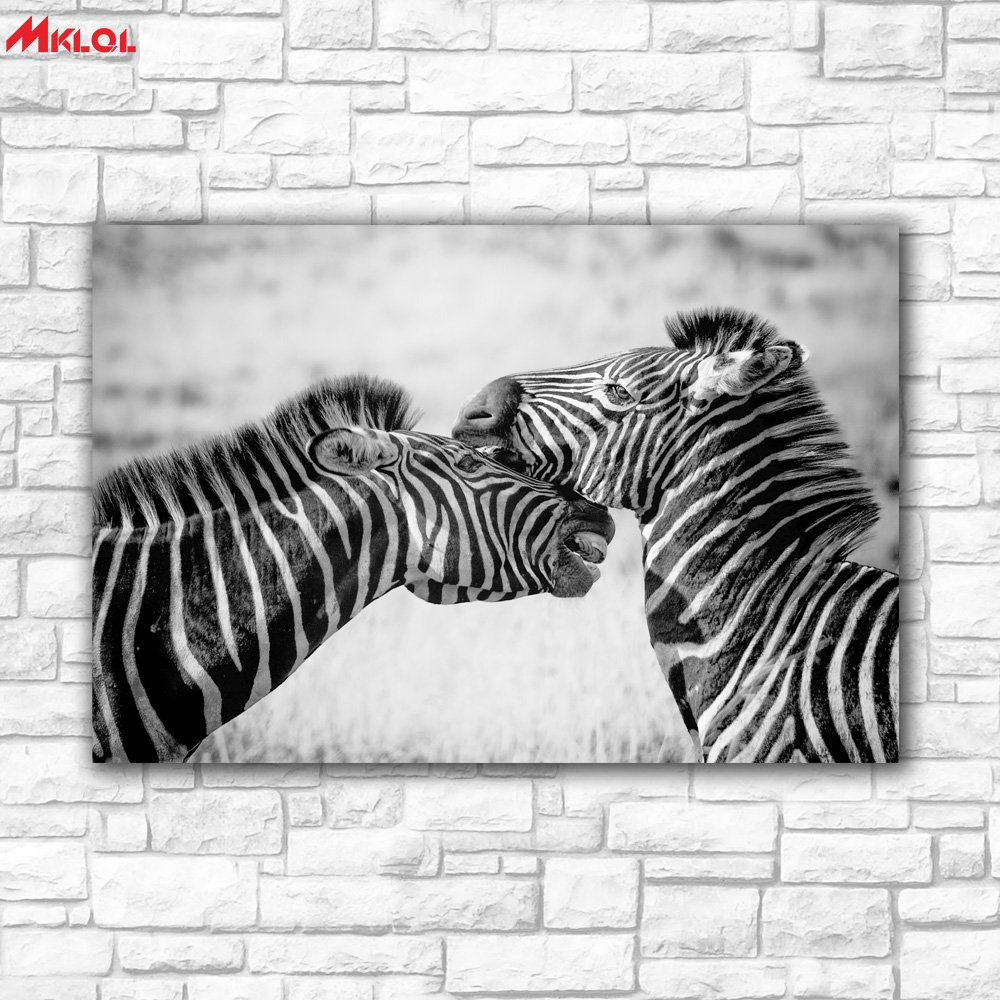 online get cheap zebra print bedroom decor aliexpress com large wall art two zebras restaurant study bedroom decor wall oil painting print nice