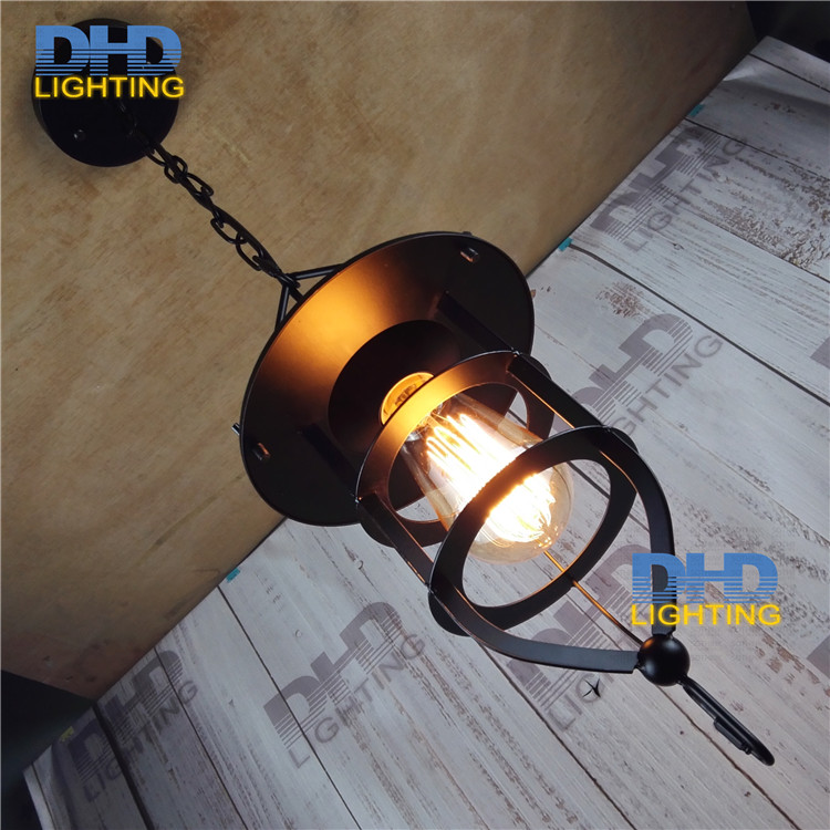 Free shipping black iron heavy cage industrial pendant lamp vintage E27 screw socket lighting fixtures for artist decorationFree shipping black iron heavy cage industrial pendant lamp vintage E27 screw socket lighting fixtures for artist decoration