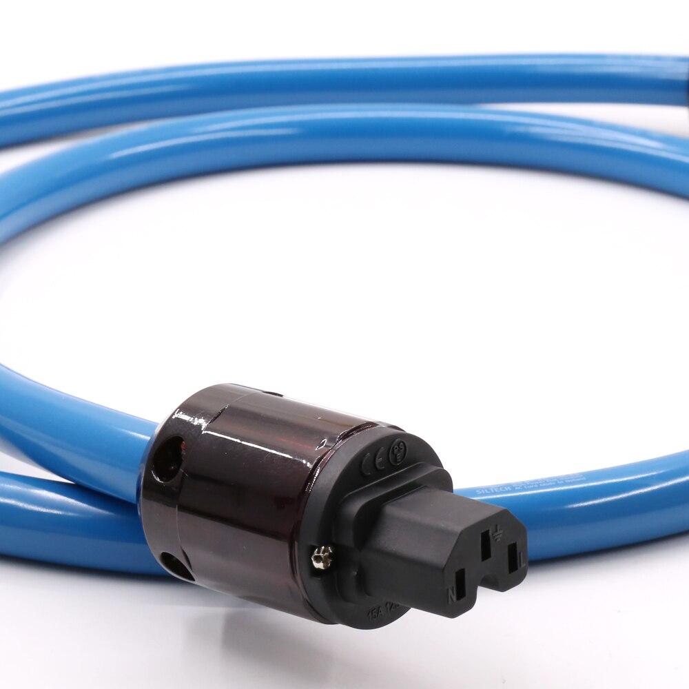 SPX-28 OCC Silver Plated AC power cable P-079E EU power plug Schuko Power cable