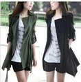 Free Shipping 2013 Autumn Winter Women's New Fashion Brand Trench Coat Large Size Long Sleeve, 3 Colors Overcoat/M-XXL