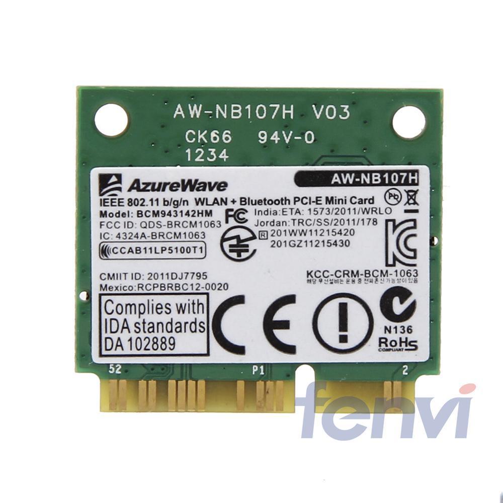 150Mbps BCM943142HM Wifi Bluetooth Adapter Broadcom BCM943142 802.11b/g/n Wi-fi+ BT 4.0 Half Mini PCI-e Wireless Wlan Card