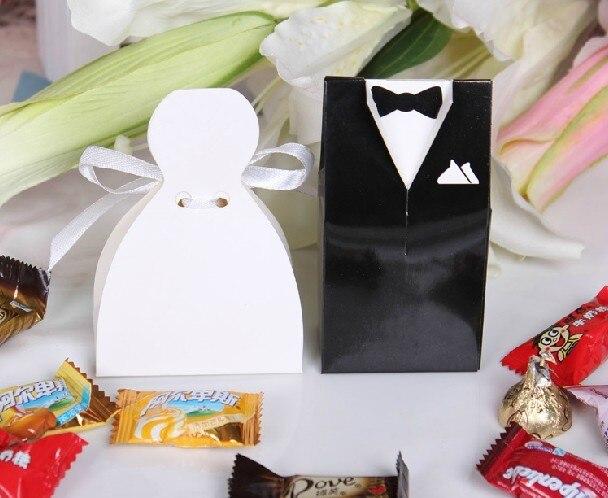 Free shipping 200 pcs wedding dress tuxedo favor boxes for Wedding dress shipping box