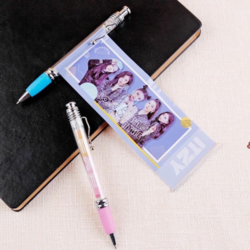Blackpink Exo Got7 Singer Fashion Gel Pen Kawaii Black Ink 0.5mm Pens Fans Gifts With Cute Album Photo Be Shrewd In Money Matters Office & School Supplies Gel Pens