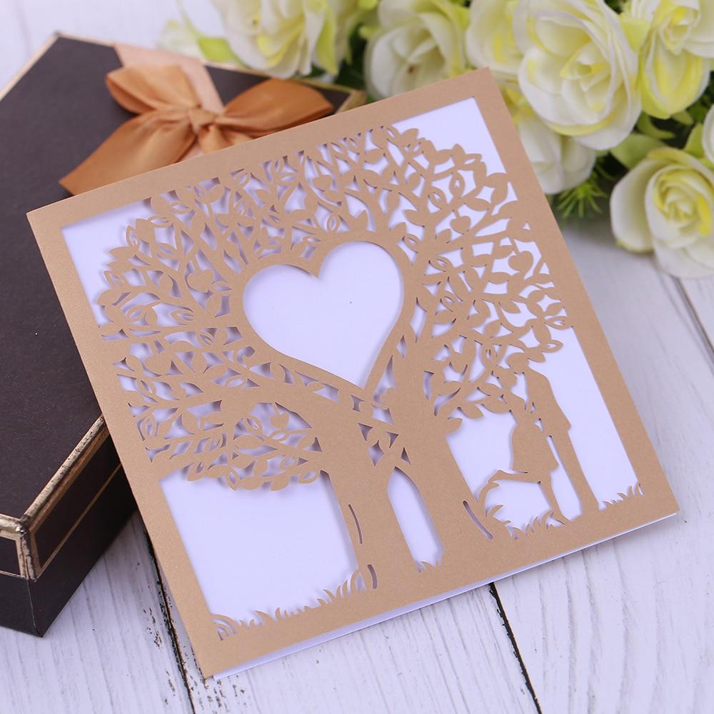 Eleva Love Tree dizains lāzera griezums paldies kartes, saldie 16 - Svētku piederumi