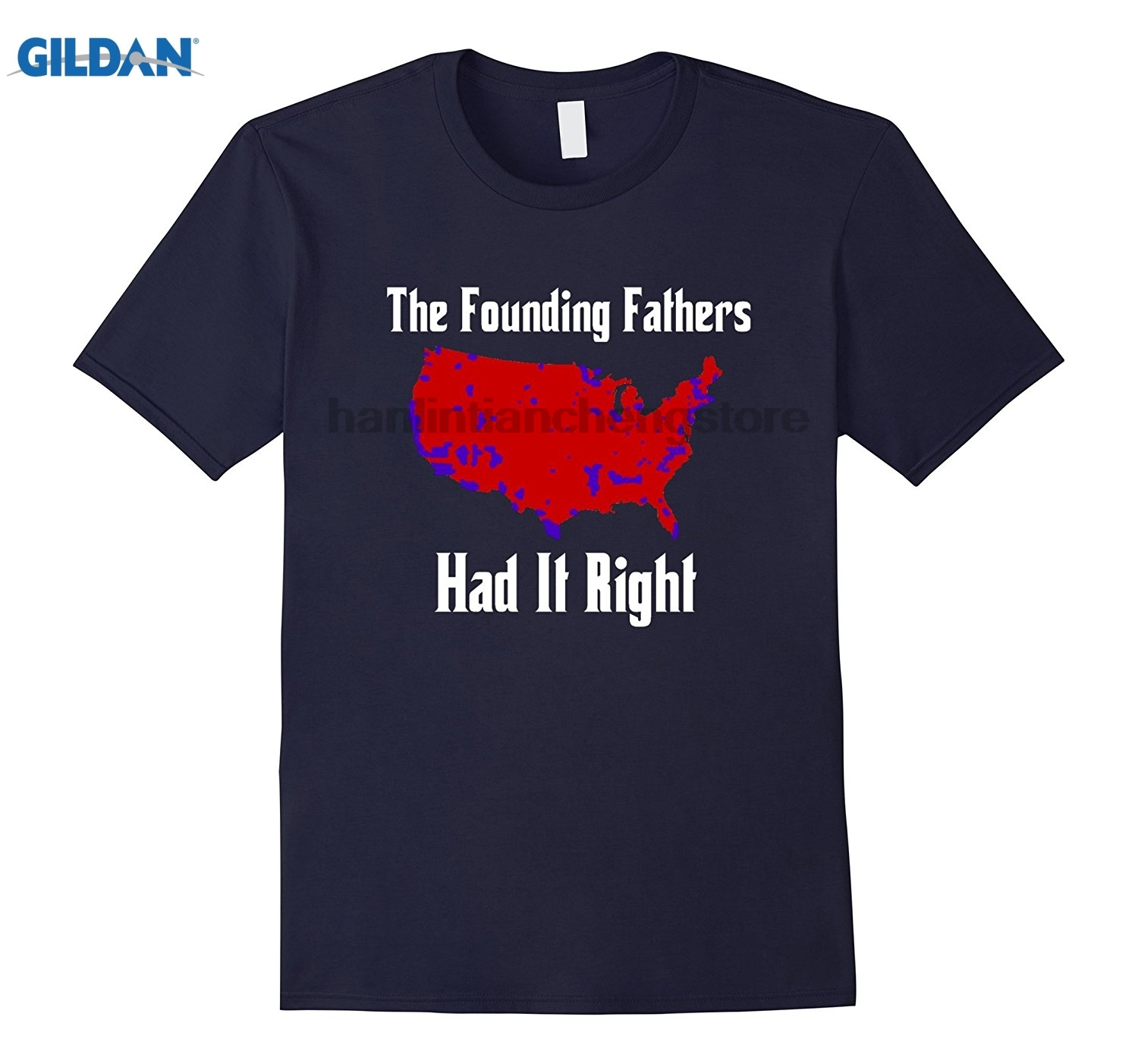 GILDAN Founding Fathers Election Map T-Shirt Version United States Of America Vs. Dumbfuckistan Election Map T-shirt