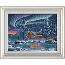 Everlasting love  Christmas The aurora borealis Ecological cotton Cross Stitch 11CT and 14CT Printed New store sales
