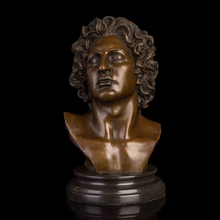 лучшая цена Best Selling  Famous Figure Sculpture Man Bust Bronze Statue Souvenir Gifts Home Office Decoration Wholesale