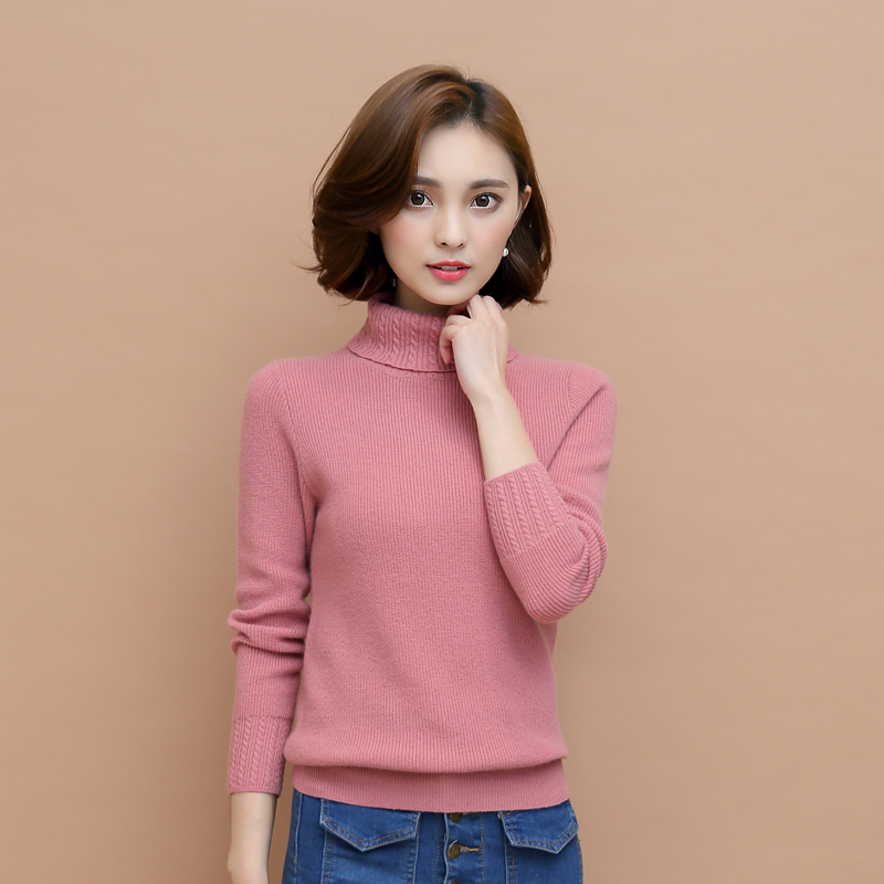 High Quality Pure Cashmere Sweater Pullover High Collar Turtleneck ...