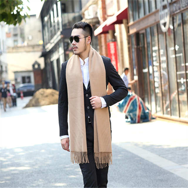 Wool Tassel Scarf / Winter Warm Cashmere