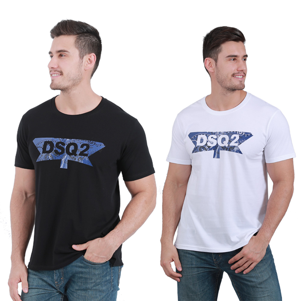 HTB12 C1bvWG3KVjSZFPq6xaiXXaF - DSQICOND2 Summer DSQ2 Letter Casual T-shirts Printed Tops Men Cotton Short Sleeve Tees With Mesh Baseball Caps Snapback Dad Hats