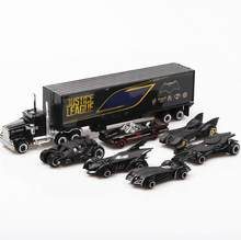 Classic 1:64 scale Hot dc super heroes batman diecast bat car batmobile set metal model pull back alloy truck toys collection(China)