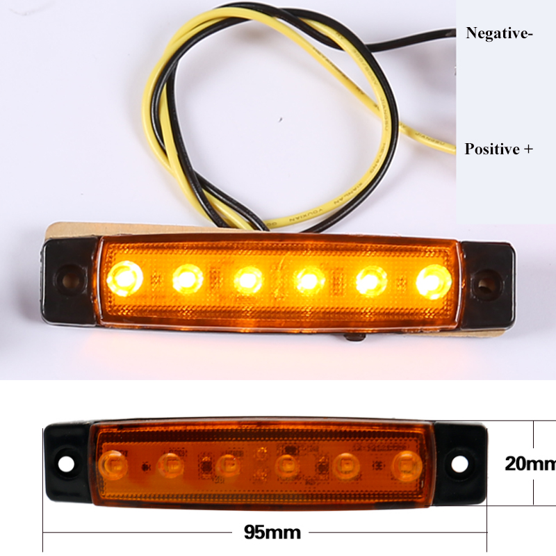 Image 3 - 10 PCS AOHEWEI  amber 24V LED  side marker light  position led light  trailer light tail light side marker reflector truck lamp-in Truck Light System from Automobiles & Motorcycles