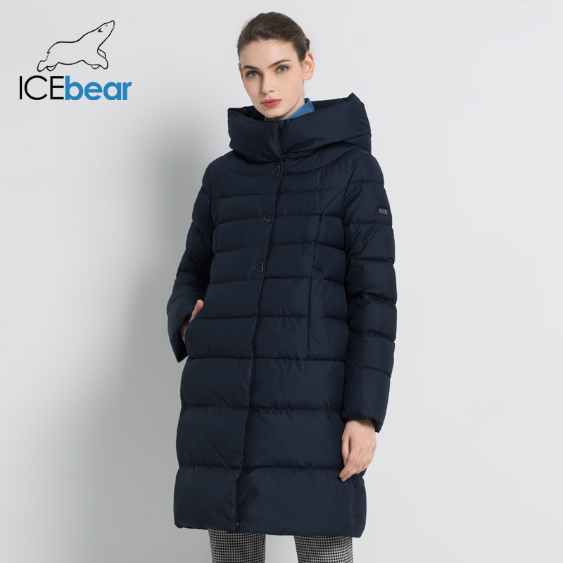ICEbear 2019 New Winter Women's Coat Fashion Female Jacket High Quality Casual Jackets Hooded Parkas Brand Clothing GWD18077I-in Parkas from Women's Clothing    2