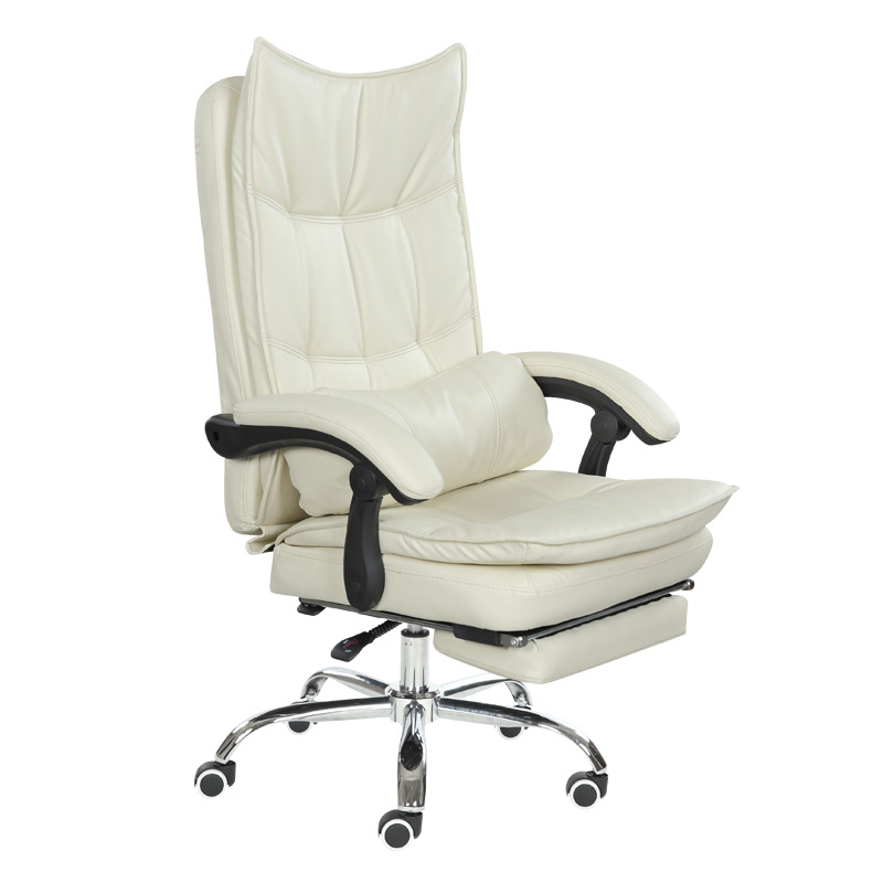 Lunch Break Reclining Office Chair Beauty Salons Lifted Swivel Chair Thicken Cushion Multifunction Computer Chair Five-star Feet