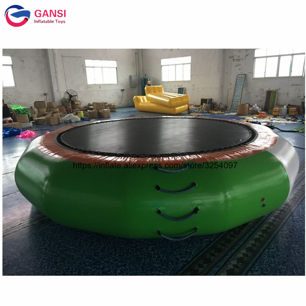 2018 best selling exciting sport equipment Inflatable water trampoline, water games inflatable water floating trampoline