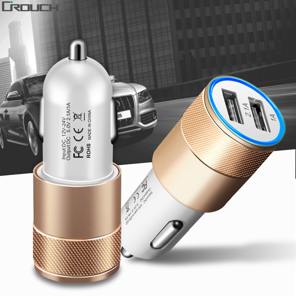 Universal 2.1A Car <font><b>Charger</b></font> 2 Port Mini Dual USB Car <font><b>Charger</b></font> Adapter for ipone5 5s 6 7 plus Samsung <font><b>Galaxy</b></font> <font><b>S5</b></font> S6 HTC Mobile <font><b>Phone</b></font>
