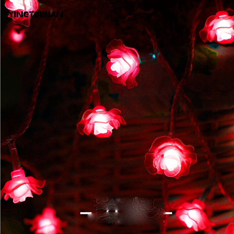 YINGTOUMAN 100 Lamp 10M Rose-type Christmas Holiday Party Decoration Light Wedding Garde ...