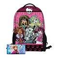Monster High children backpacks school bags for girls boys cartoon Minions kids bag bagpack mochila escolar infantil 16 Inch