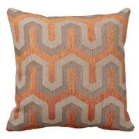 Trẻ em gối bìa orange và nâu mô hình hình học in cushion cover (kích thước: 45x45 cm) miễn phí vận vận chuyển