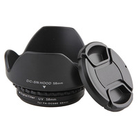Camera Lens Filter Adapter Ring Metal FA DC58E To 58mm Female Thread Lens Cap Lens Hood