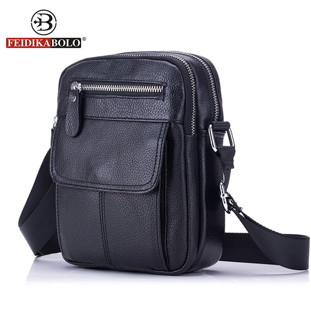 FEIDIKABOLO Genuine Leather Bag Men Messenger Bags Men's Crossbody Bag Small Leather Handbags Satchel Man Satchels Shoulder Bags