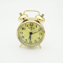 Small Wind Quartz Alarm Clock Copper Core Retro Old Metal Loudly Pointer Single-sided Simple Modern Sleeping