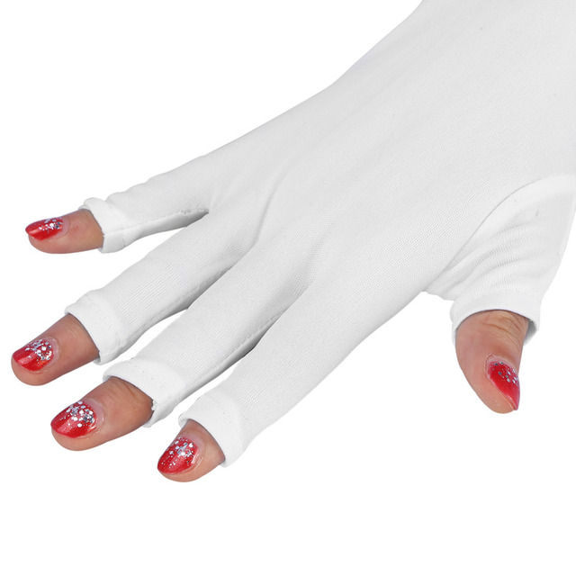 1 Pair White Useful Anti UV Mitt Long Gloves For UV Light/Lamp ...