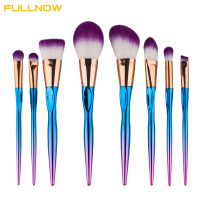 8Pcs Unicorn Pro Mermaid Heart Shape Makeup Brush Set Rainbow Soft Hair Foundation Powder Blusher Concealer