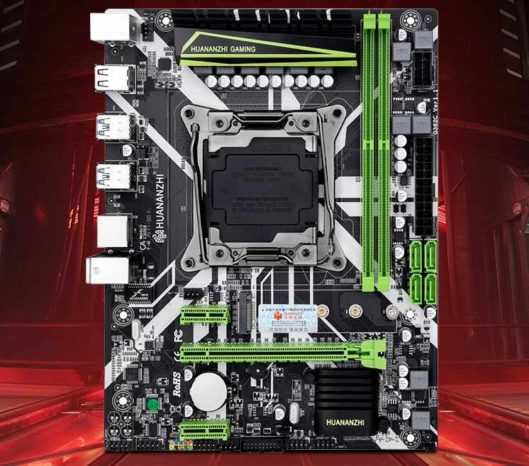 HUANANZHI PC X99 motherboard slot LGA2011 -3 USB3.0 NVME M.2 SSD support DDR4 REG ECC memory and Xeon E5 V3 V4 processor