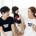 Los niños del verano 2017 de corea niños niñas manga corta t-shirt familia padre madre del bebé tshirt ropa a juego parejas clothing