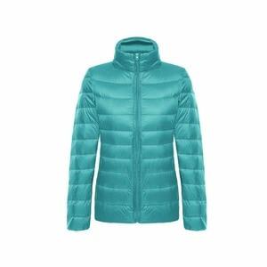 Image 2 - Vestes en duvet de canard pour femmes, Ultra léger, 5XL et 6XL, manteau chaud à manches longues pour femmes, manteau dhiver, vêtements dextérieur automne